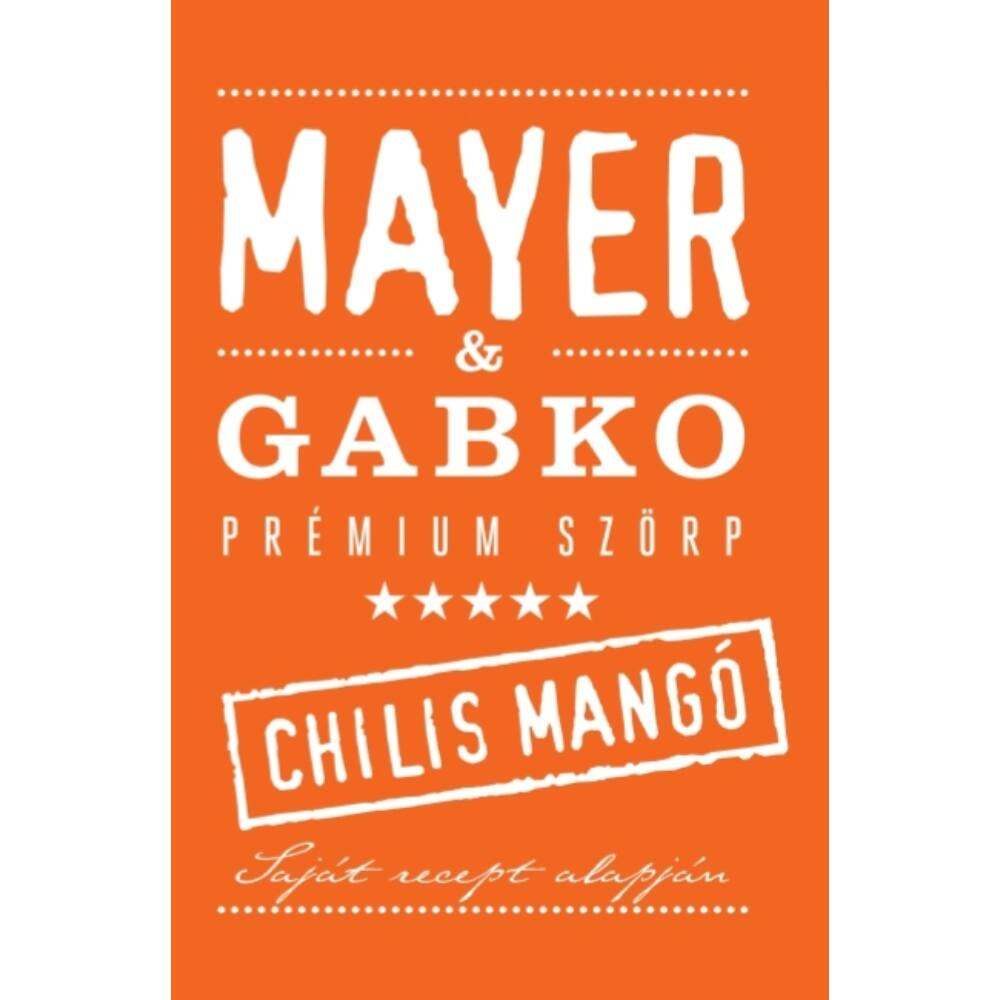 Mayer chilis mangószörp (by Gabko) 0,5l